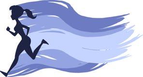 Идущая девушка Стоковое Изображение