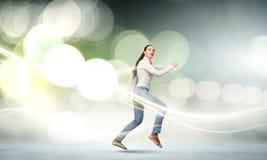 Идущая девушка стоковое фото