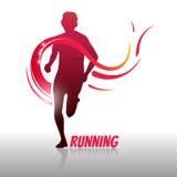 Идущие логотип и символ человека Стоковые Фотографии RF