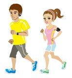 Идущие пары, короткий рукав Стоковая Фотография