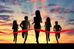 Идущие спорты 5 бегунов и бюрократизм Стоковое фото RF