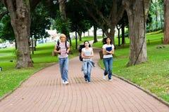 идущие студенты Стоковое фото RF