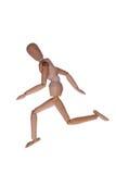 Идущий деревянный манекен стоковое фото rf