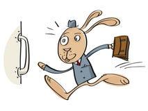 Идущий кролик шаржа Стоковое Изображение