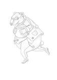 Идущий медведь с баком меда Стоковые Изображения
