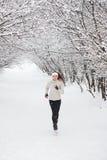идущий снежок Стоковое фото RF