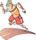 Идущий спринтер иллюстрация штока