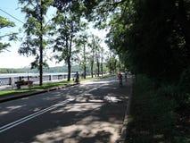 Идущий след, третбан, беговая дорожка, Стоковое Изображение