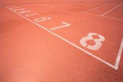 Идущий след для предпосылки спортсменов Стоковые Изображения