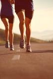 Идущий фитнес пар Стоковое Изображение