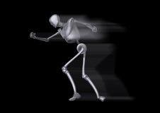 Идущий человек металла Стоковое фото RF