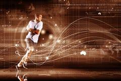 Идущий человек стоковое изображение