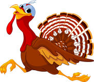 Идущий шарж Турция иллюстрация вектора