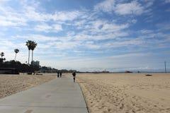 Идущ в Санта-Моника, Калифорния Стоковые Изображения RF
