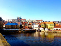 Идущ улицы Праги Стоковое фото RF