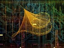 Иллюзии связей технологии Стоковое фото RF