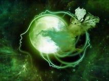 Иллюзии луны Стоковые Изображения