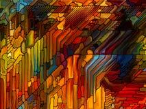 Иллюзии цветного стекла Стоковые Фото