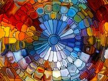 Иллюзии цветного стекла Стоковое фото RF