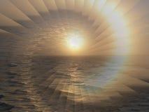 Иллюзия восхода солнца Стоковая Фотография RF