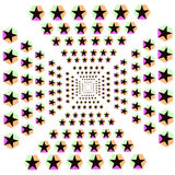 Иллюзия играет главные роли предпосылка шестиугольника Стоковое фото RF