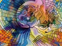 Иллюзия цветного стекла Стоковое Изображение RF