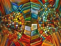 Иллюзия цветного стекла Стоковая Фотография