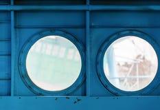 Иллюминаторы внутри воздушных судн Стоковое фото RF