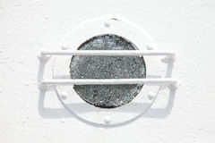 Иллюминатор белого корабля Стоковые Изображения