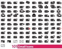 Иллюстратор вектора 101 значка электронной почты Иллюстрация штока