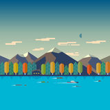 Иллюстрации ландшафта осени Стоковые Фотографии RF