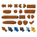 Иллюстрации вектора значков шаржа деревянные бесплатная иллюстрация
