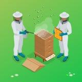 Иллюстрации вектора beekeeper пасеки Символы вектора пасеки Иллюстрация штока