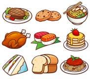 иллюстрации градиентов еды хлеба транспаранты различной установленные печатают вектор на машинке иллюстрация вектора