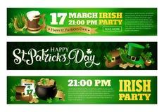 Иллюстрации знамени для праздновать день ` s St. Patrick Стоковые Фотографии RF