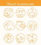 Иллюстрации здоровья Стоковое фото RF