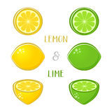 Иллюстрации лимона и известки Стоковое Фото