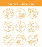иллюстрации космоса Стоковое Фото