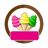 Иллюстрации мороженого Стоковые Изображения RF