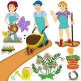 Иллюстрации садовника Стоковые Изображения RF