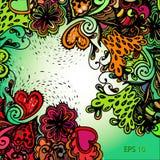 Иллюстрации с абстрактными цветками Бесплатная Иллюстрация