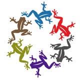 Иллюстрации лягушки Стоковые Изображения RF