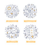 Иллюстрации Doodle маркетинга электронной почты иллюстрация штока