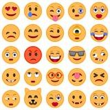 иллюстрации emoticons цветов вектор легкой editable установленный Комплект Emoji Значки улыбки иллюстрация штока