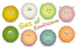 иллюстрации emoticons цветов вектор легкой editable установленный Стоковые Фотографии RF
