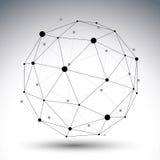 иллюстрация абстрактной технологии вектора 3D Стоковая Фотография RF