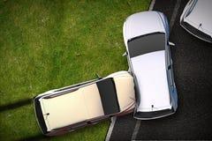 Иллюстрация аварии автомобилей стоковые фотографии rf