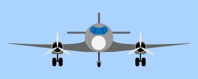 Иллюстрация авиалайнера пассажира Стоковое Изображение RF