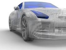 Иллюстрация автомобиля сетки металла Стоковая Фотография RF