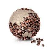 Иллюстрация Азия и Австралия мира 3D кофе составляет карту Стоковые Фотографии RF